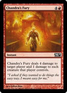 MTG Common EX - M12 Chandra/'s Outrage x4