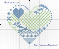 LIVE, LAUGH, LOVE ...: Small sweet heart - схема