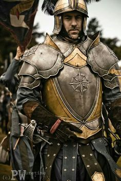 Man warrior with armor Medieval Weapons, Medieval Knight, Medieval Fantasy, Armadura Medieval, Larp Armor, Knight Armor, Conquest Of Mythodea, Rpg Cyberpunk, Grandeur Nature