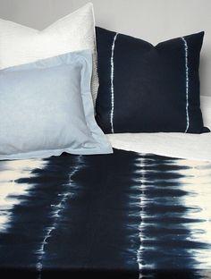 shibori bedding.. I'm a tad obsessed.