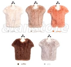 Ostrich Fur Made Vest With Latest Design On Hot Sale, Short Length Style Ostrich Fur Waistcoat