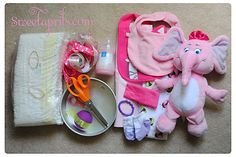 Supplies for motorcycle diaper cake