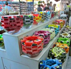 Beautiful and scented soaps can be found at Chatuchak Market in Bangkok, Thailand...