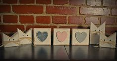 cat heart wood wooden block serca drewno sosna drewniane koty serce