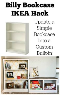 This is part two of this gorgeous IKEA Billy Bookcase hack! This tutorial teaches you how to build the bench to go alongside the bookcase. Diy Furniture Projects, Design Furniture, Ikea Furniture, Diy Wood Projects, Furniture Makeover, Furniture Plans, Woodworking Projects, Ikea Billy Bookcase Hack, Diy Home Decor