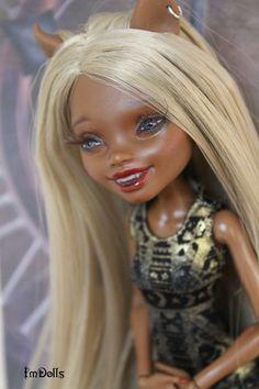 OOAK Monster High Clawdia Wolf custom doll Repaint by I'mDolls #Dolls