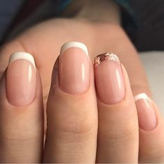 Discovered by PRINCESS NEVAEH. Find images and videos about cute, nails and goals on We Heart It - the app to get lost in what you love. Bride Nails, Prom Nails, Wedding Nails, French Acrylic Nails, French Tip Nails, Nails Only, Short Nails Art, Simple Nails, Manicure And Pedicure