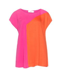 Two-tone jersey T-shirt in Pink / Orange designed by Zizzi to find in Category Shirts at navabi.de