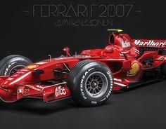 Ferrari - Kimi Raikkonen - on Behance F1 2007, Ferrari F80, Formula 1 Car, Michael Schumacher, F1 Racing, Race Cars, Super Cars, Pilot, Motorcycles