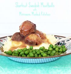 Shortcut Swedish Meatballs with Microwave Mashed Potatoes by Foodtastic Mom Trader Joes Turkey Meatballs, Microwave Mashed Potatoes, Food Dishes, Main Dishes, Food Plus, World Recipes, Healthy Eating, Swedish Meatball, Dinner Ideas