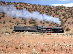 Santa Fe 3780 was the last operating steam locomotive in revenue service on the railroad. 88 years of steam powered service came to an end on August 27 1957 after the class of 1941 Baldwin graduate helped a diesel powered train to Mountainair in Abo Canyon.