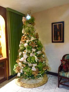 Árbol Navidad con malla