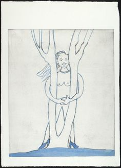 Louise Bourgeois. Embracing the Tree, state I. (2000)