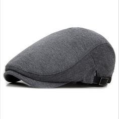 7c306106d6c38 New Autumn Winter Berets Caps For Men Outdoor Straight Visor Hats Gorra  Planas Bone Boinas Males Flat Cap casquette de marque-in Berets from Men s  Clothing ...