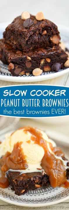 Once you make these Slow Cooker Peanut Butter Brownies - you'll never make brownies in the oven again! Seriously, the best brownies EVER and the recipe is SO easy!