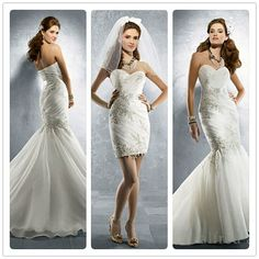 I love the convertible wedding dresses! 2 In 1 Wedding Dress, Classic Wedding Dress, Long Wedding Dresses, Designer Wedding Dresses, Wedding Attire, Wedding Gowns, Dream Wedding, Bridesmaid Dresses, Fantasy Wedding