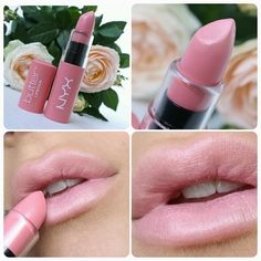 "LIP SWATCH - NYX butter lipstick ""hubba bubba"""