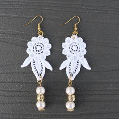 Gina Michele: diy lace earrings with darby smart