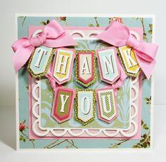 Thank You card by Van Laar Designs@Ana Luisa te gusta ISABELLA en banner chiquitito?