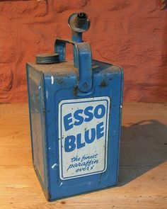 Esso blue paraffin can 1970s Childhood, My Childhood Memories, Great Memories, Those Were The Days, The Good Old Days, I Remember When, Vintage Tins, My Horse, My Heritage
