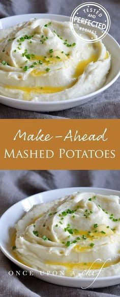 Creamy Make-Ahead Mashed Potatoes No time to cook everything you want to serve for Christmas dinner? No problem - these Creamy Mashed Potatoes are the perfect make-ahead side! #mashedpotatoes #makeahead #christmas #christmasdinner
