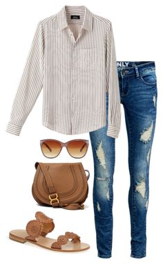 """Simple"" by thepinkcatapillar on Polyvore featuring ONLY, Jack Rogers, Quay and Chloé"
