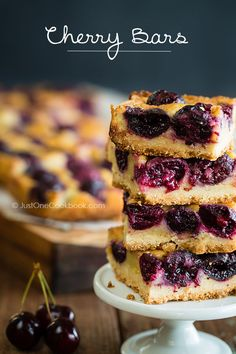 Cherry Bars from Just One Cookbook - I've never baked with fresh cherries, so this is a must this summer.