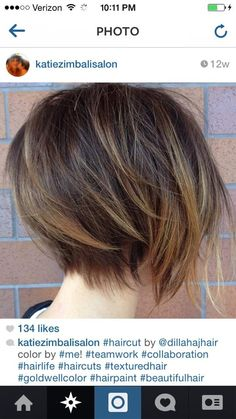 Disconnected undercut bob. Love seeing my hairstylist's work pinned! Ah se eu pudesse e meu cabelo desse....