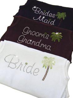 Adorable!!!!! Palm Bridal Party Tanks - Choose Titles! $24.00