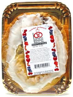"If you thought you would never eat kringle again because they always seems to contain lard and eggs, we have finally found a vegan option for you! Made with love in the ""Kringle Capital"" of the US- Racine, Wisconsin- these pastries are just as flaky, rich and delectable as you remember. Available in 7 delicious, classic flavors- Cranberry Nut (New!), Almond, Pecan, Apple, Raspberry, Cherry, and Apricot [what are the chances any of these are sugar-free?]"