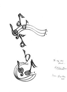 Music Notes Tattoo Drawing Tattoo design: music note by