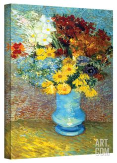 2e5e1bde4bc Vincent van Gogh  Flowers in Blue Vase  Wrapped Canvas Art Gallery Wrapped  Canvas by Vincent van Gogh