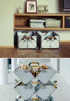 Snow Peak Stacking Shelf Container Stainless Steel Boxes w/ Bamboo handles. Can carry 44 lbs Look Fantastic