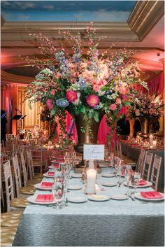 @mikaellabridal    Real Bride Centerpiece - Dramatically Beautiful