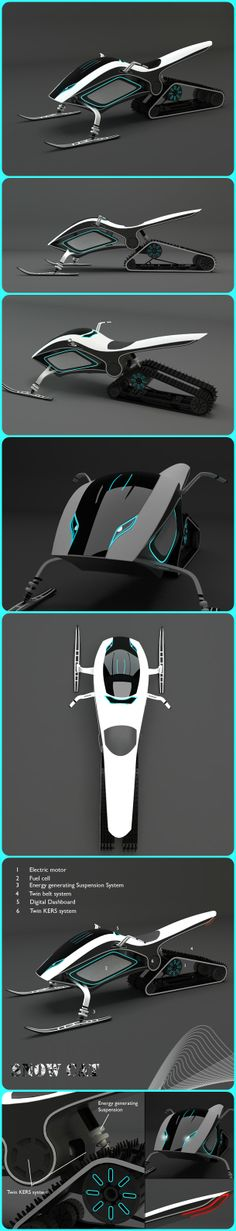The Snowcat Concept Snowmobile. Found on yankodesign.com; a cool website with all kinds of interesting conceptual designs.