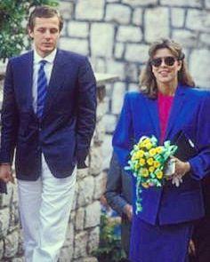 First months of marriage. #carolinedemonaco #princesscarolineofmonaco #stefanocasiraghi #Monaco