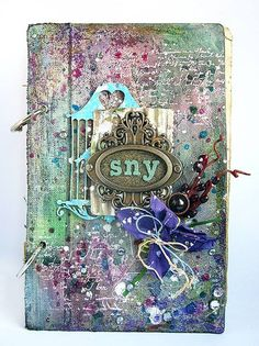 Hello :) Today with real pleasure I would like to announce the winners of our challenge How U Use Distress Inks . Dziś z dużą prz. Altered Books, Altered Art, Handmade Notebook, Cool Books, 3rd Eye, Album Book, Mixed Media Art, Mix Media, Journal Covers