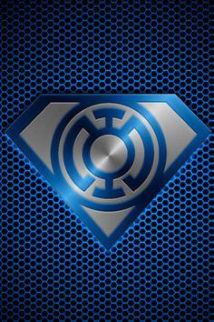 Metalic Blue Lantern Superman by ~KalEl7 on deviantART