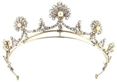 Antique Silver & Gold Diamond Tiara, Necklace & Brooches (30ct Diamond)