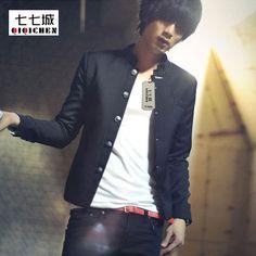 Chinese Coat: Promo Offer Black Chinese Mens Black Suit Jacket S... Mens Black Suit Jacket, Black Suit Men, Blazer Jacket, Single Breasted, Chinese, Plus Size, Slim, Mens Fashion, Coat