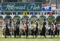 Hollywood Park, where mama and me won big at the races!