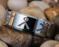 Items similar to Tungsten Wedding Ring Beveled Stargate Design-Free Inside Engraving on Etsy Tungsten Wedding Rings, Stargate Atlantis, 49er, Oui Oui, Free Design, Geek Stuff, Just For You, Wedding Inspiration, Wedding Ideas