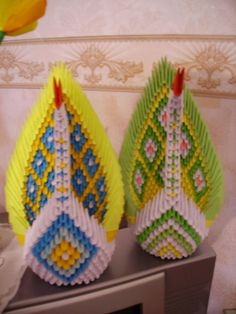 Gallery.ru / Павлинчики - Модульное оригами - valentina76