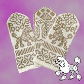 Ravelry: Poodle mittens pattern by Jorid Linvik Mittens Pattern, Knit Mittens, Mitten Gloves, Knitting Charts, Knitting Patterns, Fair Isle Knitting, Winter Accessories, Hand Warmers, Cross Stitch