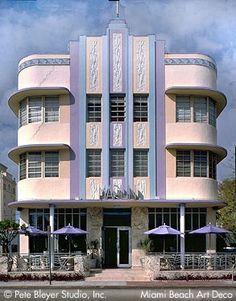 Art Deco buildings, South Beach Miami