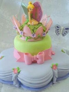 TINKER BELL FAIRY CROWN CAKE