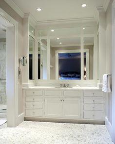 White Master Bathroom Cabinets - Bathroom Photos - iBaths.com