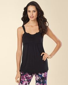 10073c368e Soma Intimates Embraceable Cool Nights Lace Sleep Cami Black  somaintimates  My Soma Wish List Sweeps
