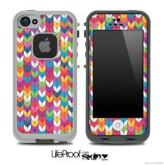 Colorful Knitted Skin for the iPhone 4/4s or 5 LifeProof Case