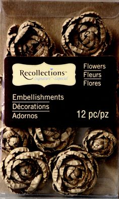 Recollections Brown Roses Flower Embellishments are available at Scrapbookfare.